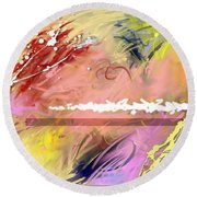 Red Convertable Round Beach Towel by Snake Jagger