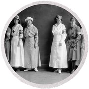 Red Cross Corps, C1920 Round Beach Towel