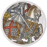 Red Cross Knight, 1598 Round Beach Towel