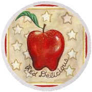 Red Delicious Two Round Beach Towel