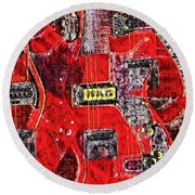 Red Devil Round Beach Towel
