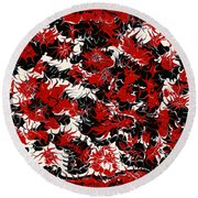 Red Devil U - V1vhkf100 Round Beach Towel