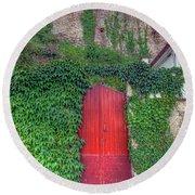 Red Door Round Beach Towel