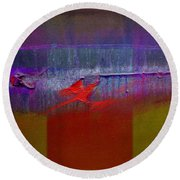 Red Dragon Autumn Round Beach Towel