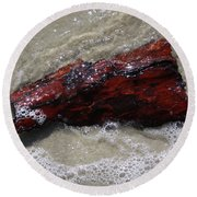 Red Drifter Round Beach Towel