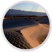 Red Dunes Round Beach Towel