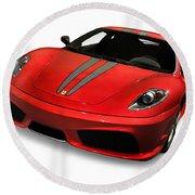 Red Ferrari F430 Scuderia Round Beach Towel