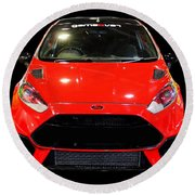 Red Fiesta Mk7.5 Round Beach Towel