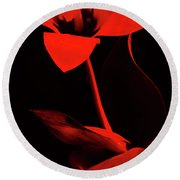 Love For Red Flower #1. Round Beach Towel