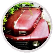 Red Ford Round Beach Towel