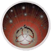 Red Giant Round Beach Towel