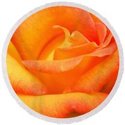 Red Gold Rose Round Beach Towel