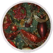 Red Gold Tree No 3 Fashions For Evergreens Event Hotel Roanoke 2009 Round Beach Towel