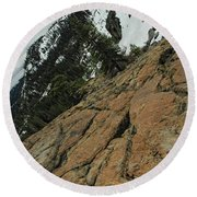 Red Granite Round Beach Towel