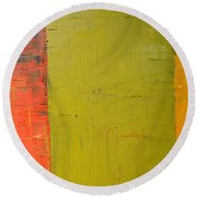 Red Green Yellow Round Beach Towel