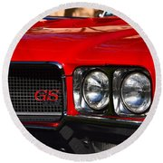Red Gs Round Beach Towel