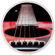 Red Guitar 16 Round Beach Towel