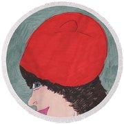 Red Hat Round Beach Towel