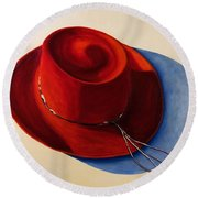 Red Hat Round Beach Towel