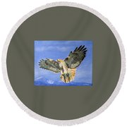 Red Hawk, 11x14, Oil, '07 Round Beach Towel