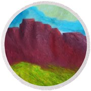 Red Hills Revisited. Round Beach Towel