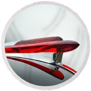 Red Hood Ornament Round Beach Towel