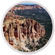 Red Hoodoos Of Bryce Canyon National Park Round Beach Towel