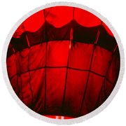 Red Hot Air Balloon Round Beach Towel