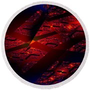 Red Hot Confetti Round Beach Towel