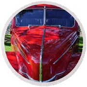 Red Hot Rod Round Beach Towel
