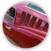 Red Hot Vents - Classic Fastback Mustang Round Beach Towel