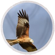 Red Kite Flying Round Beach Towel