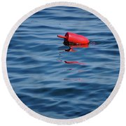 Red Lobster Buoy Round Beach Towel