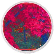 Red Maple 1 Round Beach Towel