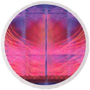 Red Moon Round Beach Towel
