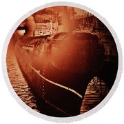 Red October -3 Round Beach Towel