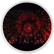 Red October Round Beach Towel