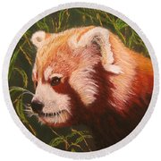 Red Panda 2 Round Beach Towel