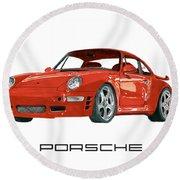 1997  Porsche 993 Twin Turbo R Round Beach Towel
