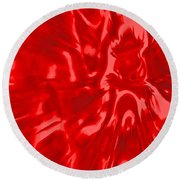 Red, Red Lava Round Beach Towel