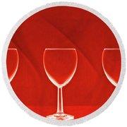 Red Red Wine Round Beach Towel