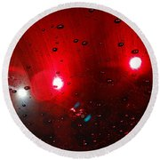Red Reflection Round Beach Towel