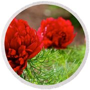Red Remembrance Round Beach Towel