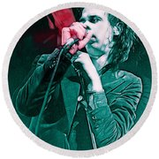 Red Right Hand, Nick Cave Round Beach Towel