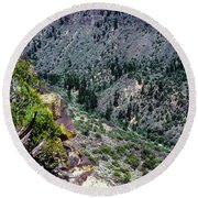 Red River Gorge Round Beach Towel
