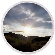 Red Rock Canyon Afternoon Sun Round Beach Towel