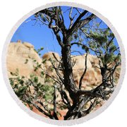 Red Rock Canyon Nv 6 Round Beach Towel