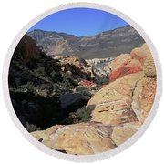 Red Rock Canyon Nv 7 Round Beach Towel