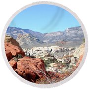 Red Rock Canyon Nv 8 Round Beach Towel