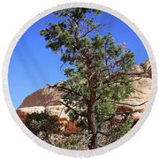 Red Rock Canyon Nv 9 Round Beach Towel